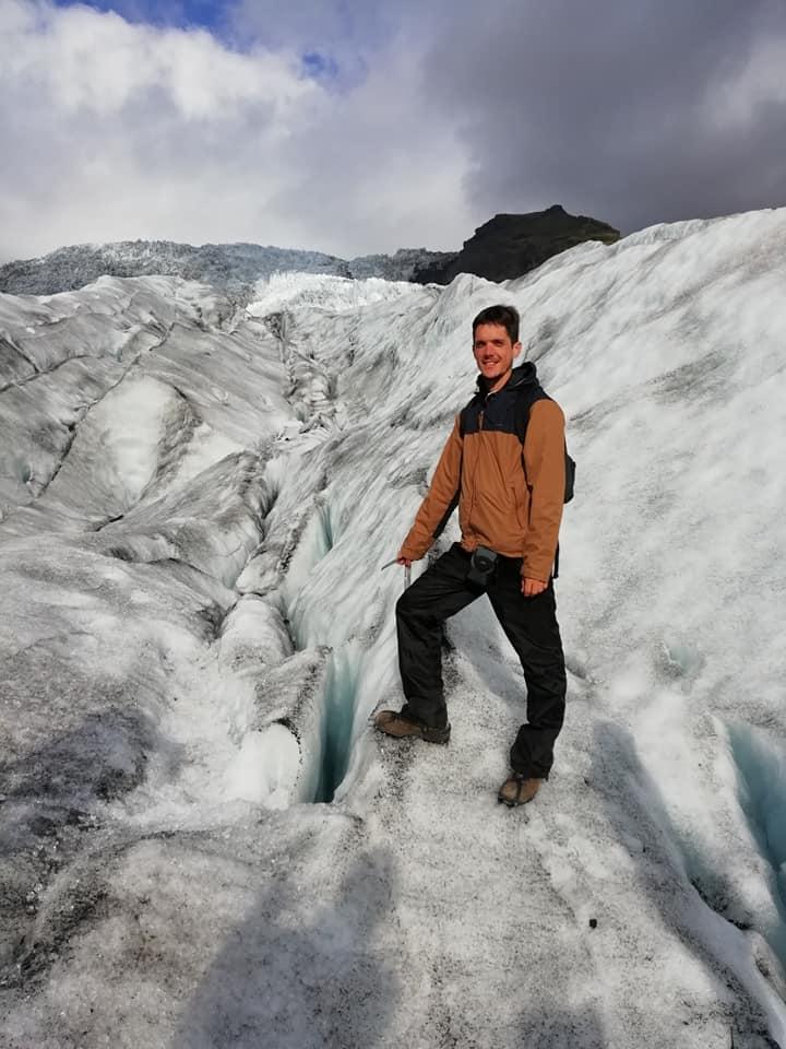 Sur un glacier en Islande !