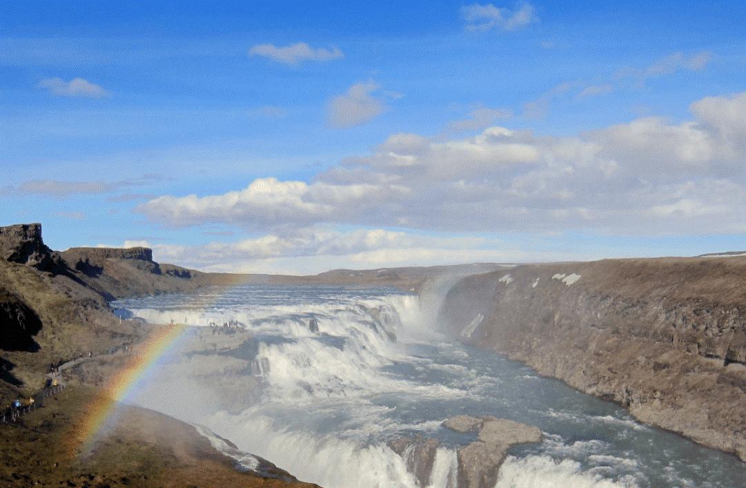 Cascade de Gullfoss - cercle d'or Islande