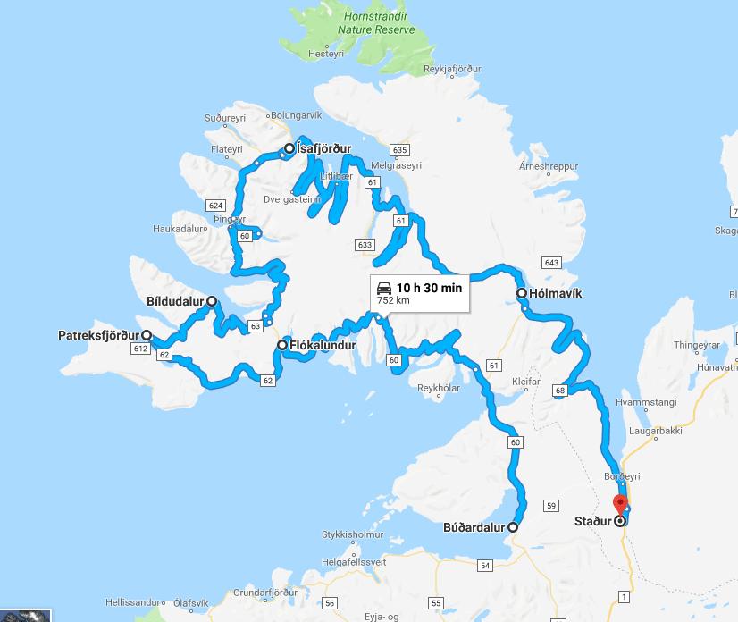 road trip fjords ouest islande itinéraire