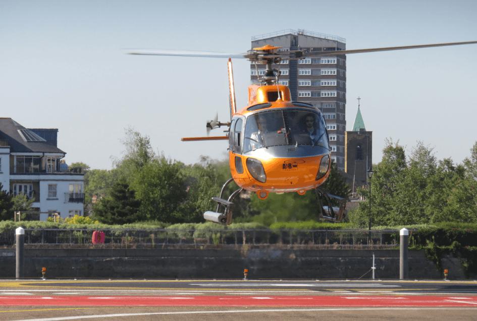 Vol en hélicoptère au-dessus de Londres