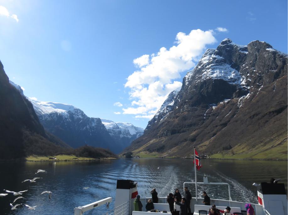 Voyage en ferry Gudvangen Flam